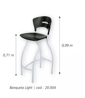Banqueta Light pvc y cromo