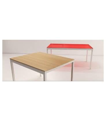 Mesa square 90 x 90cm con tapa vidrio